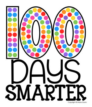 It's just a photo of Obsessed 100 Days Smarter Printable