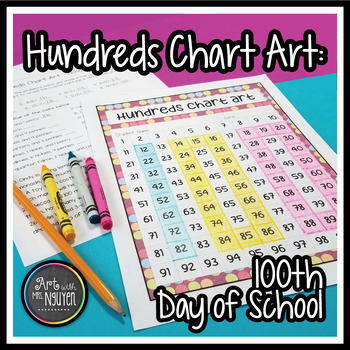 100th Day of School Hundreds Chart Art (Mystery Picture)