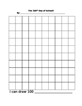 100th Day of School: I Can Draw 100 Things!