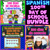 100th Day of School In Spanish Activities Bundle: Counting to 100, Crowns, Mazes