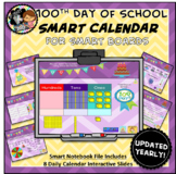 Interactive Calendar for SMART Board PK, K, 1st, 2nd - 100th Day of School