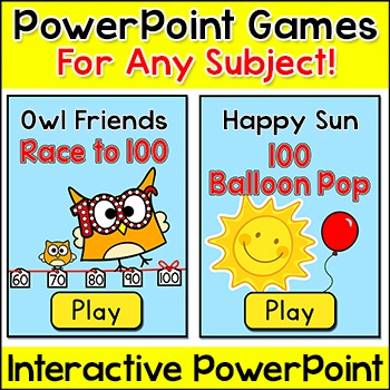 Review Games for Any Subject - Spring Activities Smartboard Games