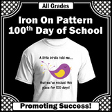 100th Day of School Iron On Transfer,  100th Day Shirt DIY, Teacher Gift Idea