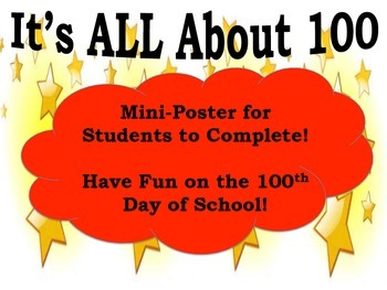 100th Day of School: It's All About 100!