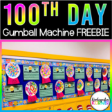 100th Day of School / Kindergarten Gumball Machine FREEBIE