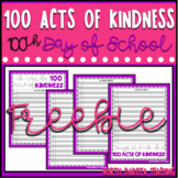 100th Day of School Kindness Challenge