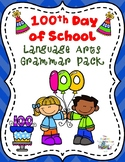 100 Days of School  Language Arts Grammar Review Color by