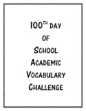 100th Day of School Learning Challenge
