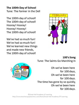 100th Day of School Lesson Plans