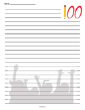 100th Day of School Lined Paper