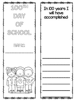 100th Day of School  MATH Lapbook All Math Based