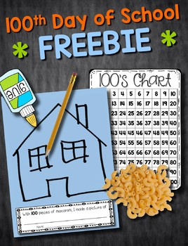 100th Day of School --- Macaroni Picture FREEBIE