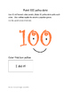 100th Day of School Math Activity ~ Kinder and First Grade