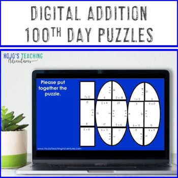 100th Day of School Math Centers | 100th Day of School Activities Addition Games