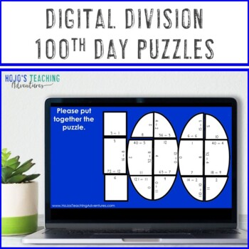 DIVISION 100th Day of School Math Activities, Centers, Games, or Puzzles