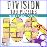 100th Day of School Google Slides Math Activities or Games - Digital or Print