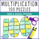 MULTIPLICATION Print or Virtual 100th Day of School Math A