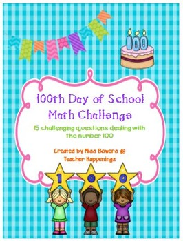 100th Day of School Math Challenge