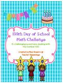 100th Day of School Math Challenge