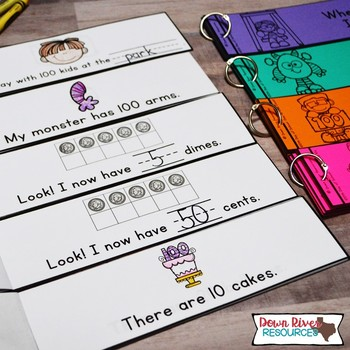 100th Day of School Math Emergent Readers {TEKS} | Sight Word Practice