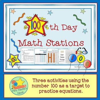 100th Day of School Math Free