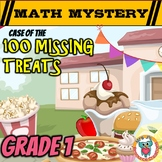 100th Day of School Math Mystery Activity - 1st Grade Math Worksheets