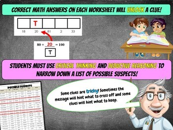 100th Day of School Math Mystery Activity - 3rd Grade Math Worksheets