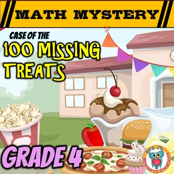 100th Day of School Math Mystery Activity - 4thGrade Math Worksheets