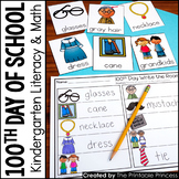 100th Day of School Centers for Kindergarten {Math and Literacy Activities}