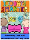 100th Day of School Measuring Non-Standard Items Task