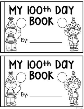 100th Day of School Mini Book