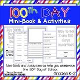 100th Day of School Mini-Book, Snack Mat & Certificate
