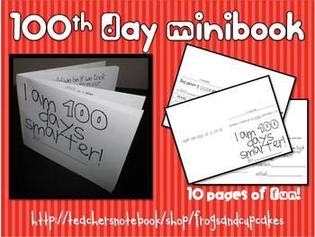 100th Day of School Minibook