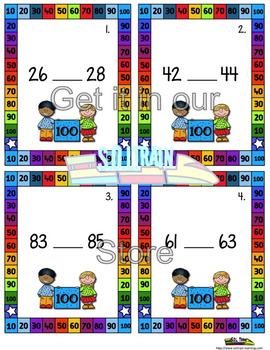 100th Day of School  Missing Numbers Scoot