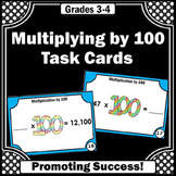 4th Grade Multiplication Task Cards, 100th Day of School Math Activities
