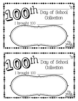 100th Day of School My Collection Book