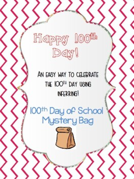 100th Day of School Mystery Bag