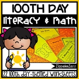 Worksheets for 100th Day of School ELA Literacy and Math Activities