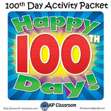 100th Day of School Activity Packet Printable Worksheets