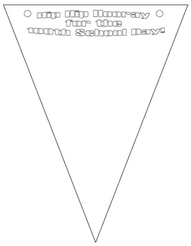 100th Day of School Pennant