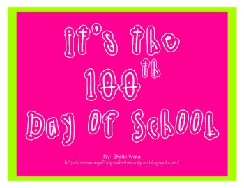 100th Day of School -  Personal Web Map