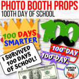 100th Day of School Photo Booth Props, Bulletin Board Elements