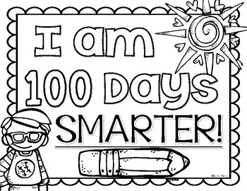 It's just a picture of Satisfactory 100 Days Smarter Printable