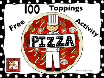 100th Day of School Pizza Activity and Graph