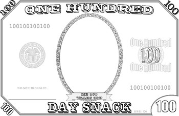 100th Day of School Placemat