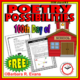 POETRY UNIT: 100th Day Poetry Activities, Poetry Elements, Poetry Forms, Writing