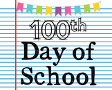 FREEBIE! 100th Day of School Poster, Class Decor, Holiday