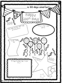 100th Day of School Printable