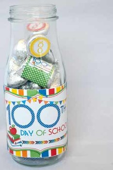 100th Day of School Printable Bottle Wrappers