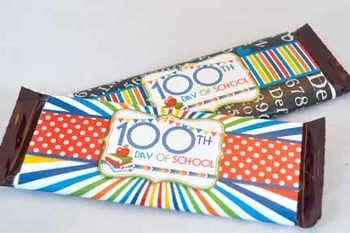 100th Day of School Printable Candy Bar Wrappers
